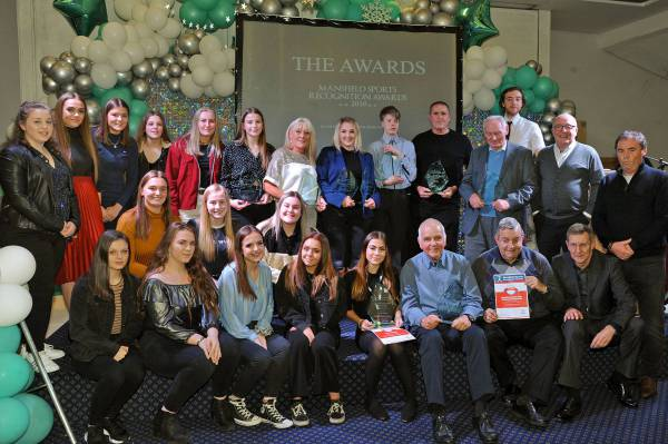 Winners of the Mansfield and District Sports Recognition Awards 2019