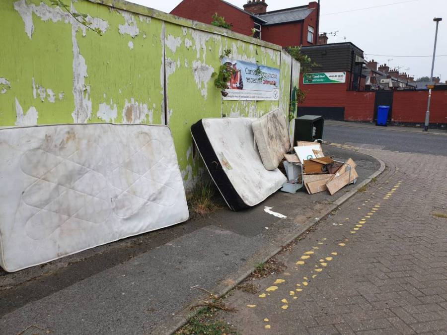 Broomhill lane fly-tipping