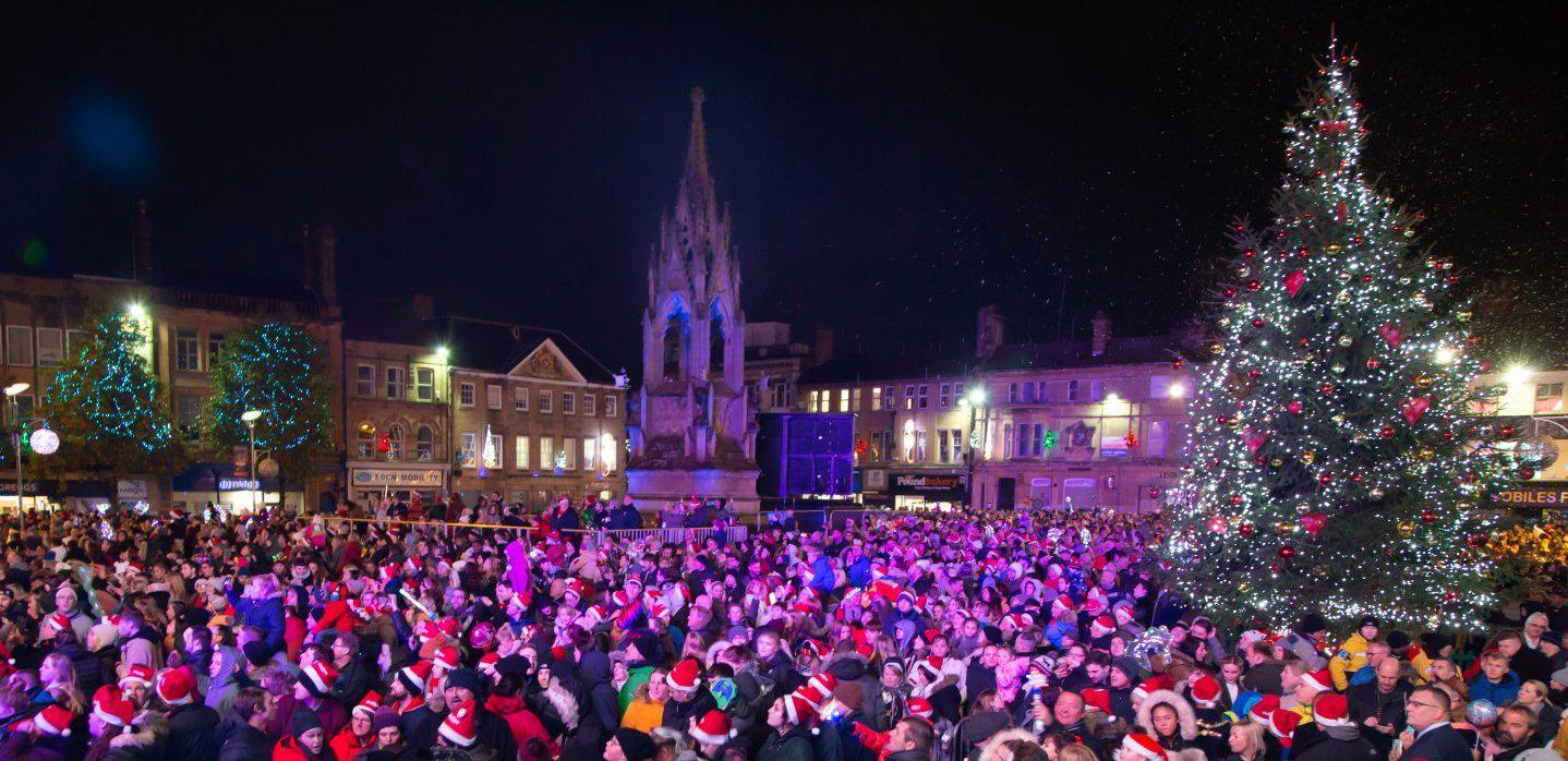 Christmas in Mansfield town centre