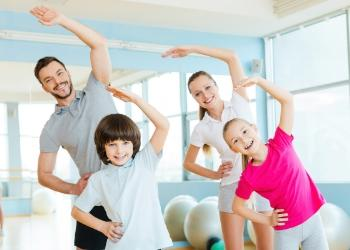 Family exercise photo