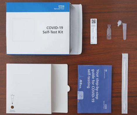Image of Covid home test kit