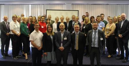 Photo of partner organisations at the Mansfield Health Partnership launch