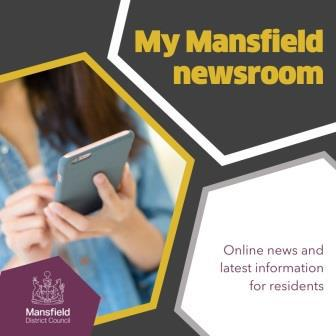 An image of the My Mansfield newsroom identity