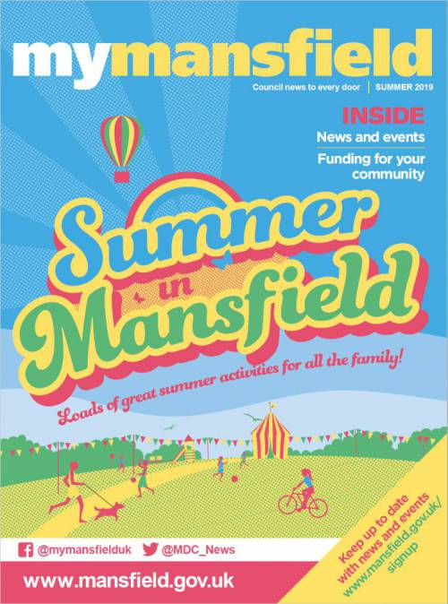 Cover of My Mansfield Summer 2019 magazine