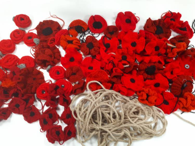 Poppies waiting to be transformed into garlands
