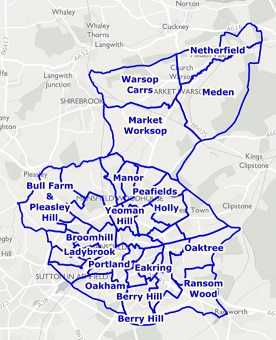 Image of ward map for Mansfield