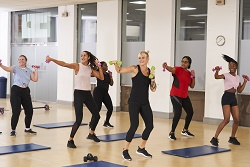 Image of women in a group exercise class