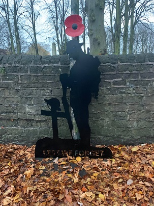 Remembrance Day soldier silhouette